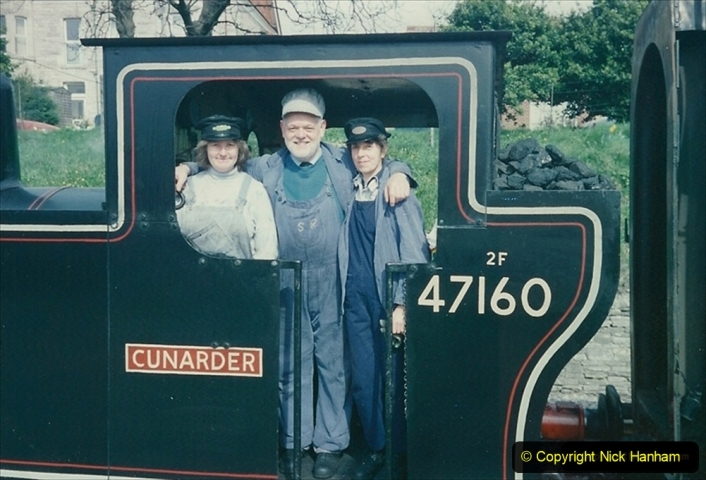 1994-03-20 Driving Cunarder with cleaner Caroline and fireman Julia. 202