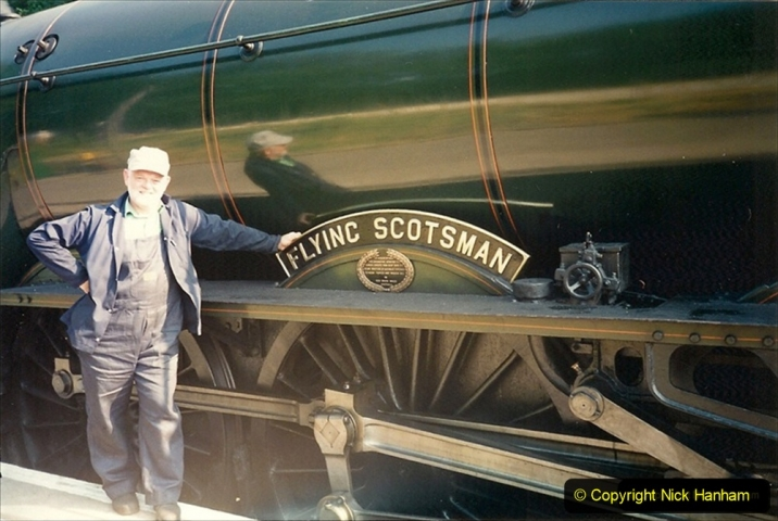 1994-07-17 July & August. 60103 Flying Scotsman was our Summer season loco. Nearly all my turns on her there was just my fireman and myself.  WHAT an HONOR to be trusted with FS. (1) 210