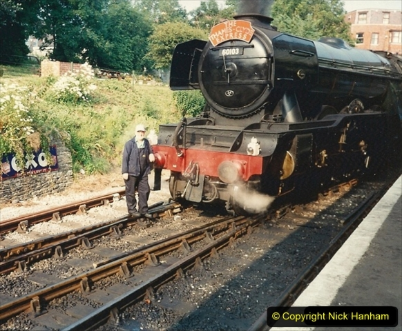 1994-07-18 to 22 Your Host spends a week driving Flying Scotsman. (3) 214