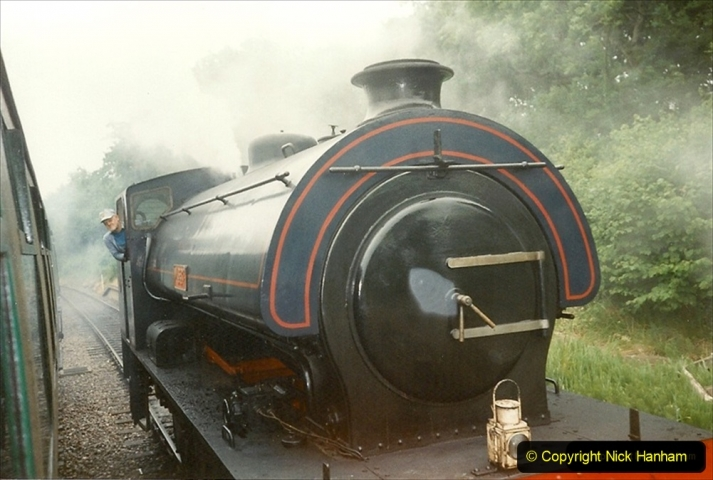 1995-06-17 Driving NCB Wilbert. Lovely loco to drive. (4) 227