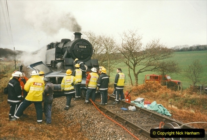 1999-12-26 A day your Host will not forget. The Vauxhall Cavalier car came across Quarr Farm crossing in front of me without stoping. (3) 269