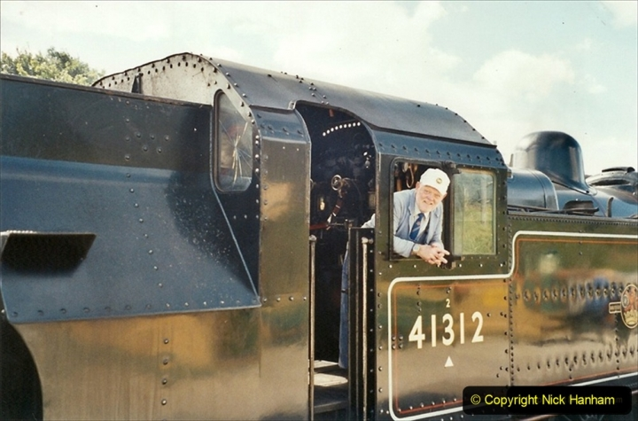 2001-09-08 SR Steam Gala. Your Host driving 41312 from the Mid Hants. (2) 281