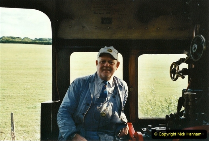 2001-09-08 SR Steam Gala. Your Host driving 41312 from the Mid Hants. (4) 283