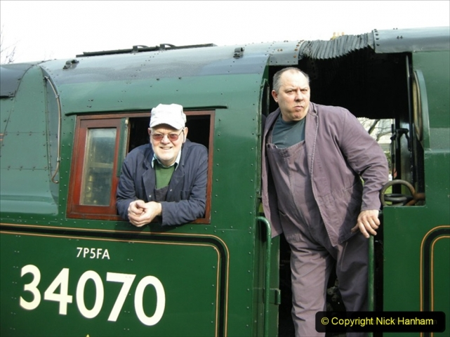2009-02-16 Driving 34070 Manston with fireman Mick. (2) 344