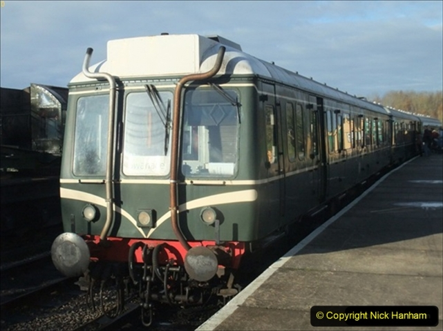 2011-12-10 Driving the DMU on Santa Specials. (1) 421