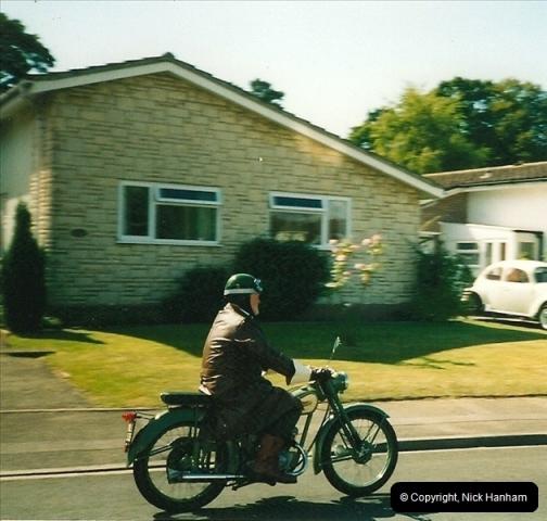 2004-06-29 Your Host riding his BSA Bantam 125cc Motor Cycle. Parkstone, poole, Dorset.  (1)538538