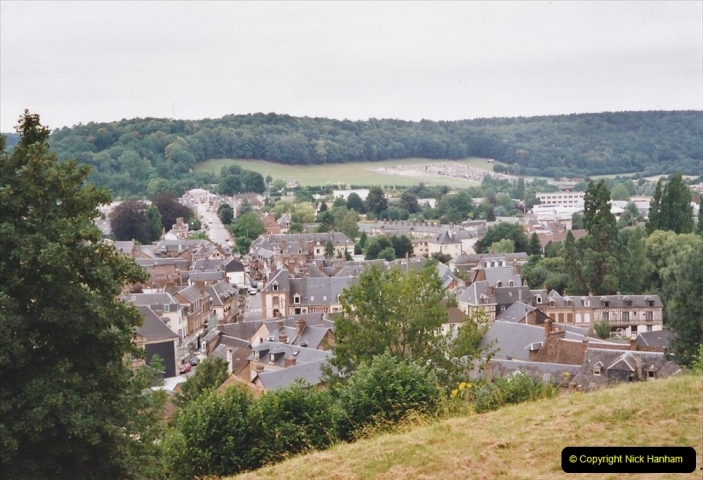 2002 July - France. (38) Brionne view of the town from the Donjon. 038