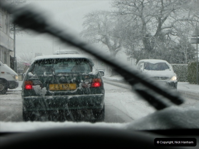 2009-02-06 Snow in Poole, Dorset.  (2)213