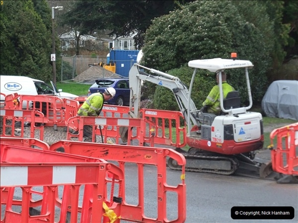 2012-02-20 Gas pipe renewal work. Poole, Dorset.  (2)046
