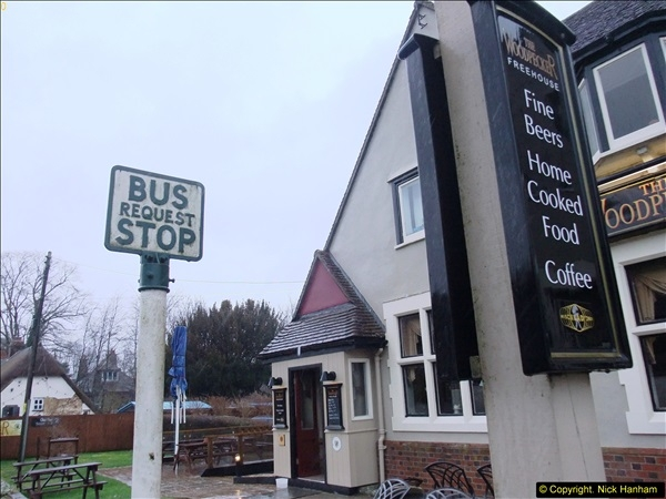 2014-01-31 Rare old style Bus Stop @ Spetisbury, Dorset.  (3)057