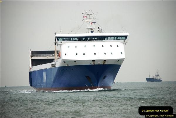 2016-02-27 MV Pelican entering Poole Harbour followed by bunkering vessel.  (10)067