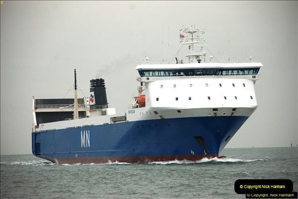 2016-02-27 MV Pelican entering Poole Harbour followed by bunkering vessel.  (11)068
