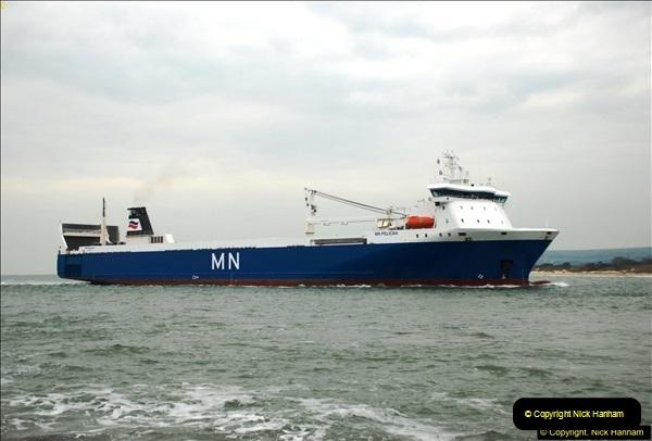 2016-02-27 MV Pelican entering Poole Harbour followed by bunkering vessel.  (12)069