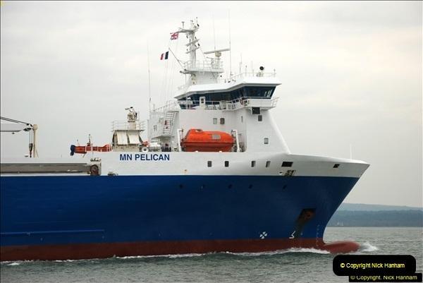 2016-02-27 MV Pelican entering Poole Harbour followed by bunkering vessel.  (14)071