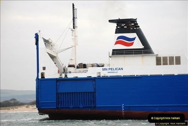2016-02-27 MV Pelican entering Poole Harbour followed by bunkering vessel.  (15)072