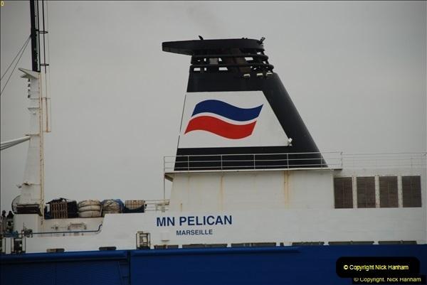 2016-02-27 MV Pelican entering Poole Harbour followed by bunkering vessel.  (16)073
