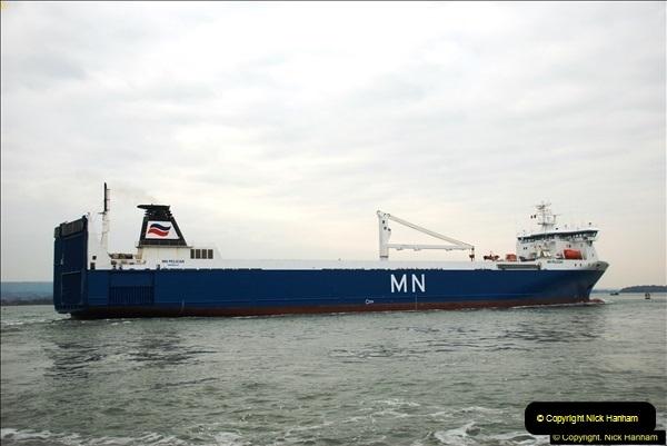 2016-02-27 MV Pelican entering Poole Harbour followed by bunkering vessel.  (17)074