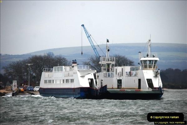 2016-02-27 MV Pelican entering Poole Harbour followed by bunkering vessel.  (2)059