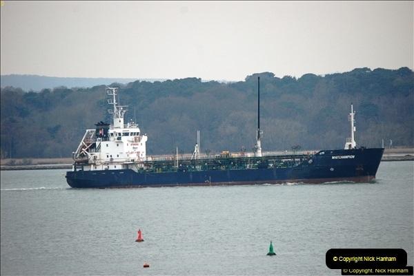2016-02-27 MV Pelican entering Poole Harbour followed by bunkering vessel.  (27)084
