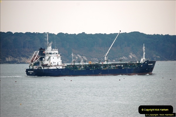 2016-02-27 MV Pelican entering Poole Harbour followed by bunkering vessel.  (28)085