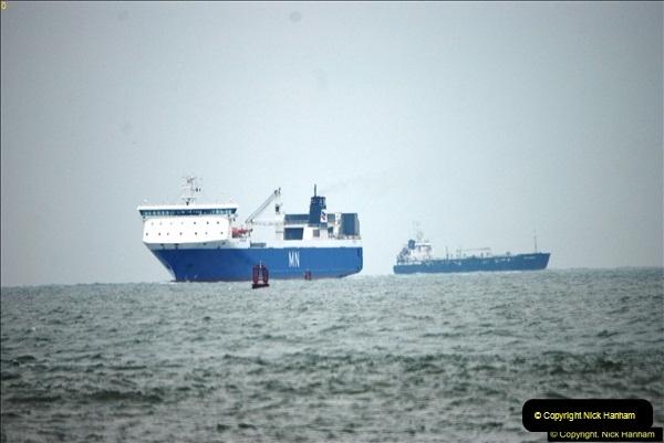 2016-02-27 MV Pelican entering Poole Harbour followed by bunkering vessel.  (3)060