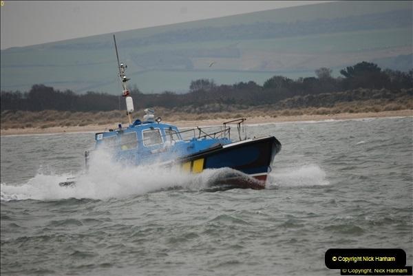 2016-02-27 MV Pelican entering Poole Harbour followed by bunkering vessel.  (5)062