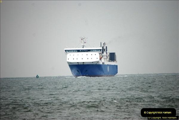2016-02-27 MV Pelican entering Poole Harbour followed by bunkering vessel.  (6)063