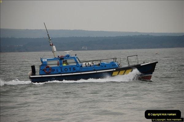 2016-02-27 MV Pelican entering Poole Harbour followed by bunkering vessel.  (7)064