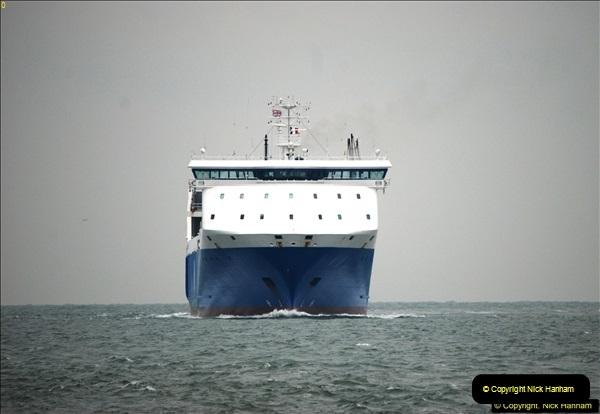 2016-02-27 MV Pelican entering Poole Harbour followed by bunkering vessel.  (8)065
