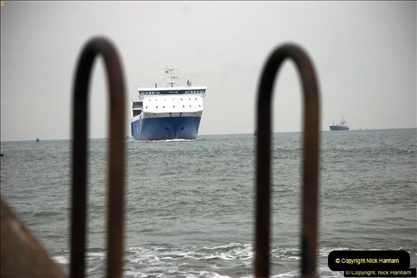2016-02-27 MV Pelican entering Poole Harbour followed by bunkering vessel.  (9)066