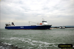 2016-02-27 MV Pelican entering Poole Harbour followed by bunkering vessel.  (13)070