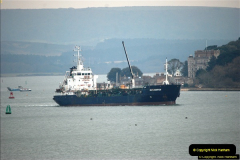 2016-02-27 MV Pelican entering Poole Harbour followed by bunkering vessel.  (25)082