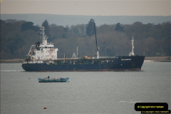 2016-02-27 MV Pelican entering Poole Harbour followed by bunkering vessel.  (26)083