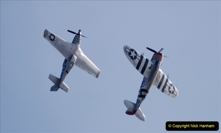 2019-08-30 Bournemouth Air Festival 2019. (171) Warbird Fighters. Spitfire - Mustang - Republic P-47D Thunderbolt - Hispano Buchon. 171