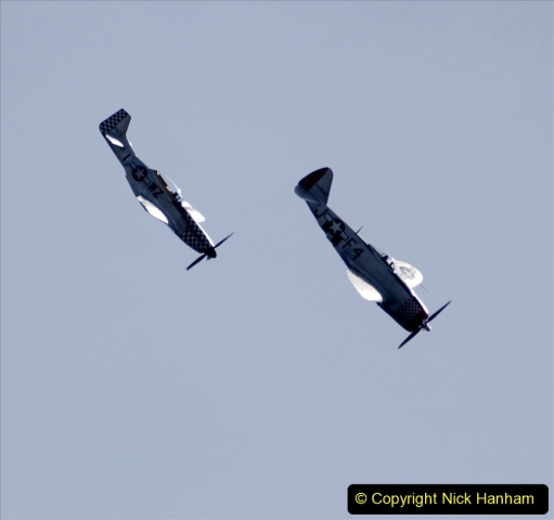 2019-08-30 Bournemouth Air Festival 2019. (173) Warbird Fighters. Spitfire - Mustang - Republic P-47D Thunderbolt - Hispano Buchon. 173