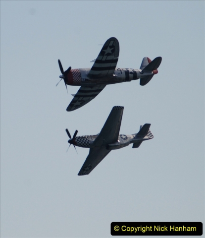 2019-08-30 Bournemouth Air Festival 2019. (175) Warbird Fighters. Spitfire - Mustang - Republic P-47D Thunderbolt - Hispano Buchon. 175