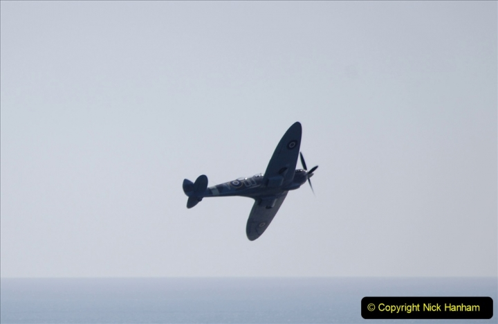 2019-08-30 Bournemouth Air Festival 2019. (189) Warbird Fighters. Spitfire - Mustang - Republic P-47D Thunderbolt - Hispano Buchon. 189