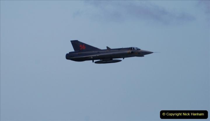 2019-08-30 Bournemouth Air Festival 2019. (312) Sabb J-35 Draken. 312