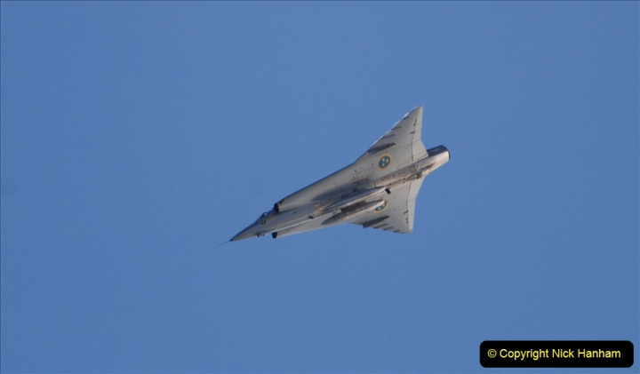2019-08-30 Bournemouth Air Festival 2019. (318) Sabb J-35 Draken. 318