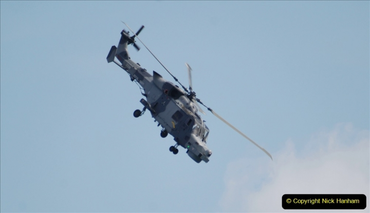 2019-08-30 Bournemouth Air Festival 2019. (63) Royal Navy Wildcat HMA2 Helicopter. 063