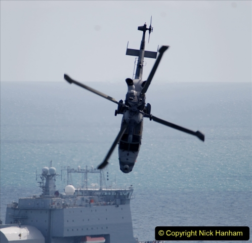 2019-08-30 Bournemouth Air Festival 2019. (72) Royal Navy Wildcat HMA2 Helicopter. 072