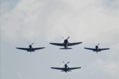 2019-08-30 Bournemouth Air Festival 2019. (162) Warbird Fighters. Spitfire - Mustang - Republic P-47D Thunderbolt - Hispano Buchon. 162