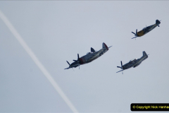 2019-08-30 Bournemouth Air Festival 2019. (164) Warbird Fighters. Spitfire - Mustang - Republic P-47D Thunderbolt - Hispano Buchon. 164