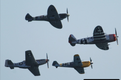 2019-08-30 Bournemouth Air Festival 2019. (167) Warbird Fighters. Spitfire - Mustang - Republic P-47D Thunderbolt - Hispano Buchon. 167