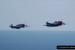 2019-08-30 Bournemouth Air Festival 2019. (169) Warbird Fighters. Spitfire - Mustang - Republic P-47D Thunderbolt - Hispano Buchon. 169