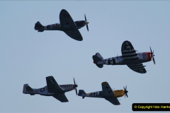2019-08-30 Bournemouth Air Festival 2019. (178) Warbird Fighters. Spitfire - Mustang - Republic P-47D Thunderbolt - Hispano Buchon. 178
