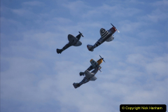 2019-08-30 Bournemouth Air Festival 2019. (182) Warbird Fighters. Spitfire - Mustang - Republic P-47D Thunderbolt - Hispano Buchon. 182