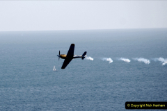2019-08-30 Bournemouth Air Festival 2019. (196) Warbird Fighters. Spitfire - Mustang - Republic P-47D Thunderbolt - Hispano Buchon. 196