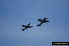 2019-08-30 Bournemouth Air Festival 2019. (198) Warbird Fighters. Spitfire - Mustang - Republic P-47D Thunderbolt - Hispano Buchon. 198