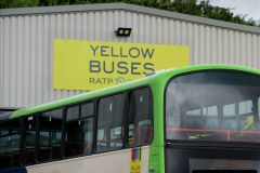 2019-07-21 Yellow Buses depot on Canford Heath, Poole, Dorset. (2) 104